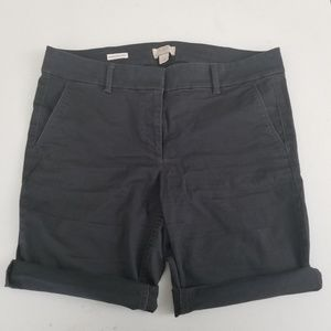 Loft Bermuda Shorts in Coal Gray (Size 12P)